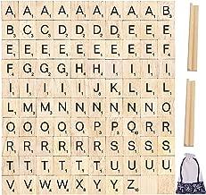 Letras de madera 200 Piezas INTVN Letras del Alfabeto y N/úmeros Artesan/ía Scrabble Letra Manualidades DIY Decoraci/ón