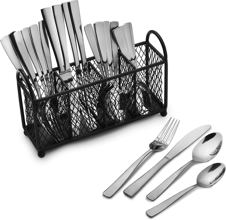 Pfaltzgraff Cheap mart mail order specialty store Satin Danford 24-Piece Stainless Flatware Set Steel