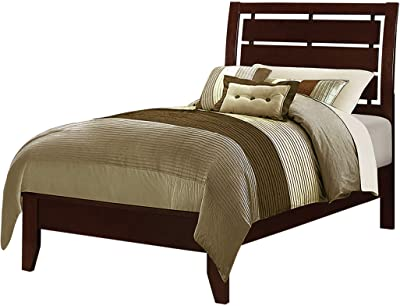 Coaster Home Furnishings Serenity Twin Bed with Slatted Headboard Rich Merlot Panel