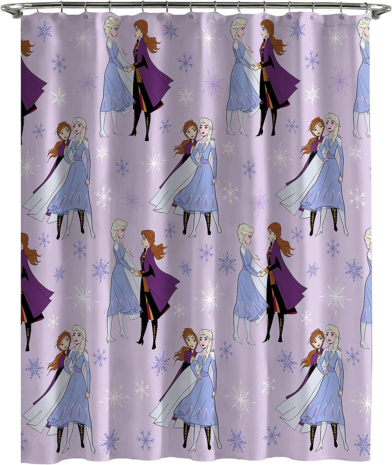 Jay Franco Genuine Disney Frozen Credence ICY Shower Fabric K Care Easy Curtain