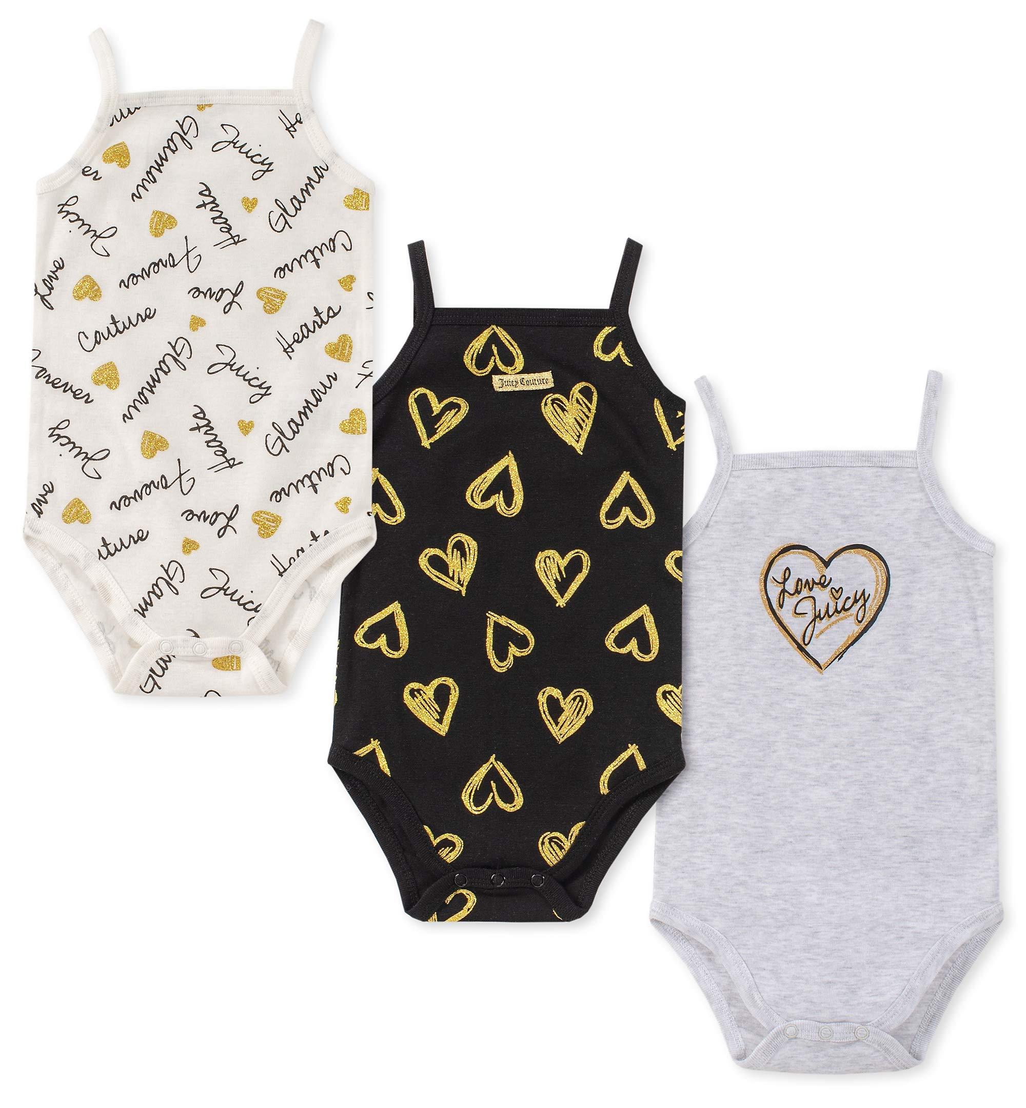 ジューシークチュール女の赤ちゃんジャンプスーツ3個セット