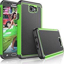 Tekcoo for Galaxy J7 Sky Pro Case/for Galaxy J7 V/J7V/J7 Perx Sturdy Case, [Tmajor] Shock Absorbing [Green] Rubber Plastic Scratch Resistant Defender Bumper Hard Cover Cases for Samsung J7 2017