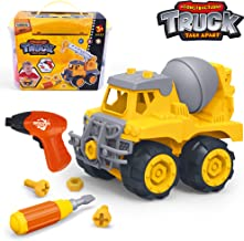 Take Apart Toys with Electric Drill | Toddler DIY Assembly Construction Truck | Building..