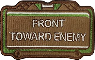 MORTHOME Front Toward Enemy Embroidered Morale Funny Military Hook Loop Velcro Patch MH-PATCH-CX-1