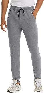 MAGCOMSEN Men's Jogger Pants Closed Bottom Lightweigt Training Running Pants Outdoor Sports Jersey Sweatpants Zipper Pockets