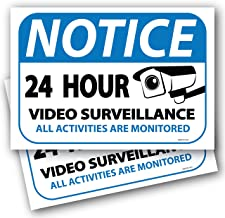(2 Pack) Notice 24 Hour Video Surveillance Sign 7