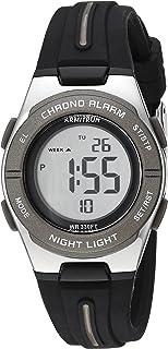 Armitron Sport Women's 45/7096BLK Dark Grey Accented Digital Chronograph Black Silicone Strap Watch