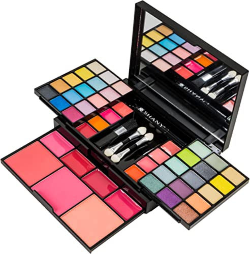 SHANY 'Fix Me Up' Makeup Kit - Eye Shadows, Lip Colors, Blushes, and Applicators