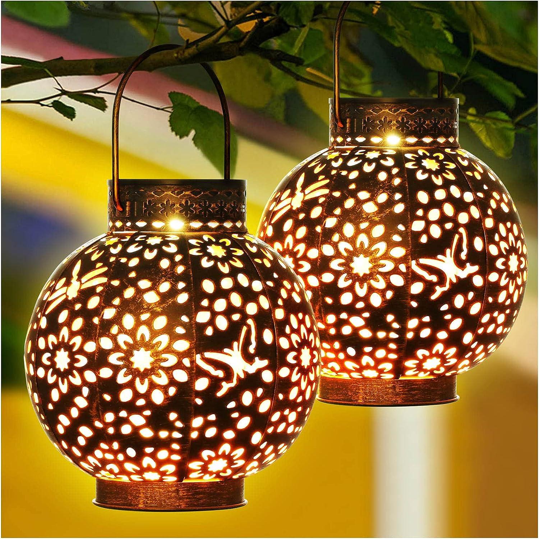 KOOPER Solar Lantern Outdoor Hanging Quality inspection Metal La Lights Retro Beauty products