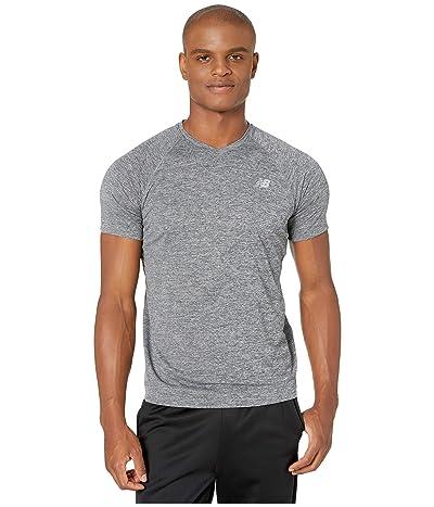 New Balance Impact Run Mesh Short Sleeve (Black Heather) Men