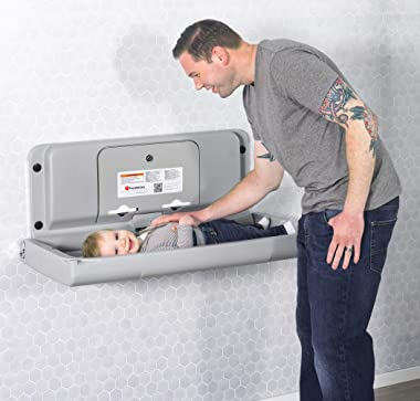 Foundations Ultra 200-EH Horizontal Wall-Mounted Baby Changing Station (Gray)