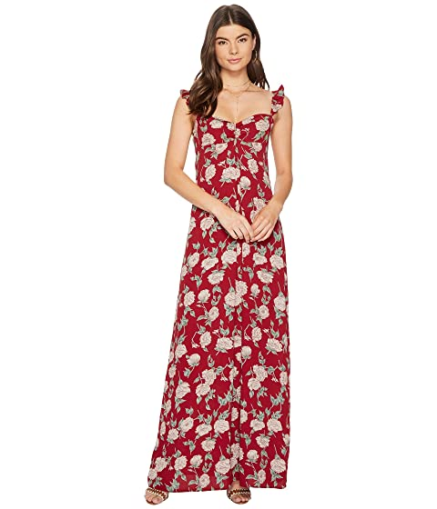 FLYNN SKYE Carla Maxi Dress, Red Roses