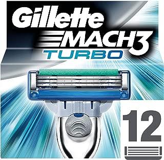 Gillette Mach3 Turbo Razor Blade Refill x12