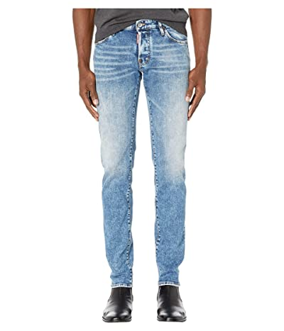 DSQUARED2 Plain Light Wash Slim Jeans (Blue) Men