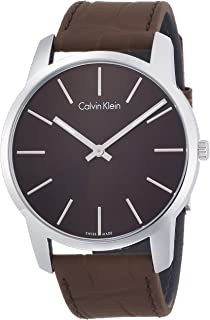 Men's Analogue Quartz Watch with Leather Strap K2G211GK