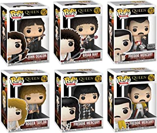 Ultimate Queen Pop! Freddy Mercury Diamond Figure Band Rocks Collection Brian May Guitar / John Deacon Bass / Roger Taylor Drums / Wembley Vinyl 6 Items