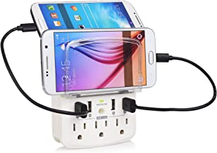 Cable Matters 3 Outlet Wall Mount Surge Protector with USB 4 Ports 4.8 Amp Charging