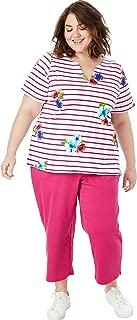 Women's Plus Size 2-Piece Tunic and Capri Set