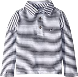 Edgartown Long Sleeve Shep Stripe Color To White (Toddler/Little Kids/Big Kids)