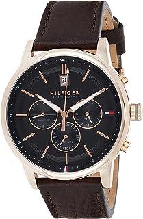 Tommy Hilfiger Reloj Multiesfera para Hombre de Cuarzo con Correa en Cuero 1791631