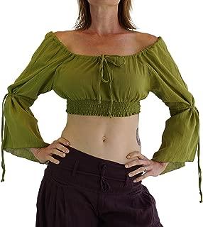 zootzu 'LS Pull Tie' Gypsy Chemise Renaissance Festival Medieval Garb - Light Green