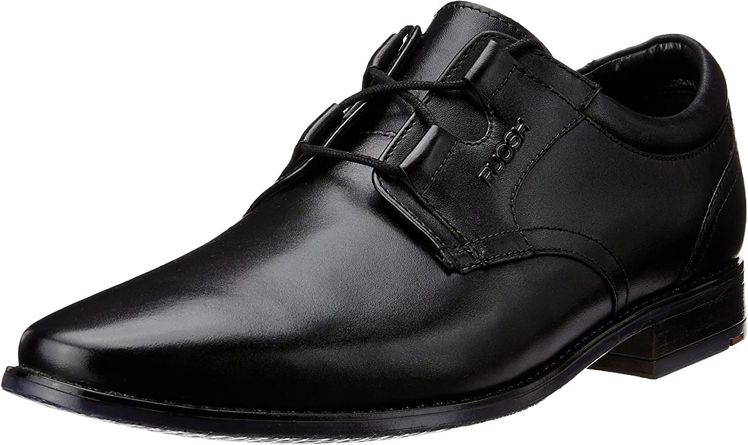 Ruosh Men's Black Leather Formal shoes - 7 UK India (40 EU)
