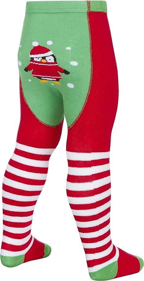 Tick Tock Baby M/ädchen Christmas Patch Panel Strumpfhose S/ü/ß Festliche Bild auf dem Hintern Anti Rutsch F/ü/ße 0-6m bis zu 18-24m
