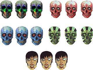 4 sets (12 pieces) of Holographic Skulls Dart Flights - Assorted Designs