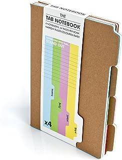 SUCK UK - TAB NOTEBOOK & JOURNAL | OFFICE SUPPLIES & SCHOOL SUPPLIES | PINK BLUE GREEN & YELLOW A5 NOTEPAD | NOVELTY ORGAN...
