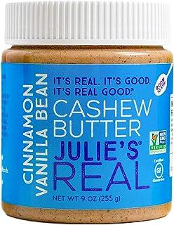 Julie's Real Cashew Butter, Cinnamon Vanilla Bean - Certified Gluten-Free, Non-GMO, Paleo, Kosher - No Sugar Added, No Pal...