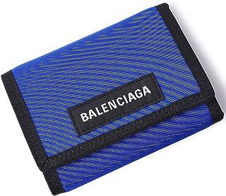 [BALENCIAGA(バレンシアガ)] 三つ折り財布 折りたたみ財布 ナイロンウォレット ロゴ 507481 9TYY5 4060 ブルー ウォレット [並行輸入品]