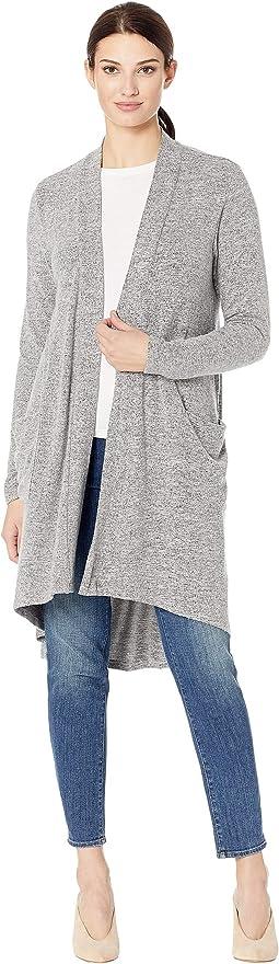 Long Cardi Brushed Sweater Knit