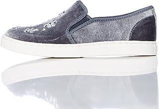 Marca Amazon - REDWAGON Zapatillas Sin Cordones con Apliques Niñas