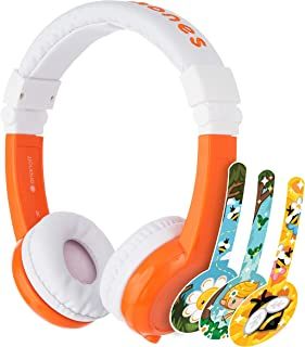 ONANOFF BuddyPhones Explore Foldable - Kids Volume Limiting Headphones - Built-in Audio Sharing Cable and in-Line Mic - Co...