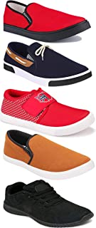 WORLD WEAR FOOTWEAR Sports Running Shoes/Casual/Sneakers/Loafers Shoes for Men Multicolor (Combo-(5)-1219-1221-1140-417-1096)