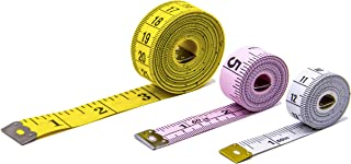 Soft Tape Measure Utron Measure Tape for Body 3 Pack Double Scale Measurement Tape Set for Sewing, Body, Tailor 60/120 inch