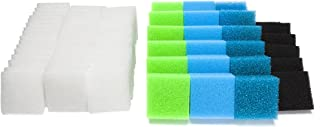 LTWHOME Value Pack of Fine Filters, Carbon Filters, Coarse Filters, Medium Foam Filters and Poly Filters Set Fit for Juwel Compact/BioFlow 3.0/ M (Pack of 74)