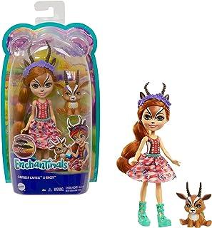 Enchantimals GTM26, Gazelle Haar Dierenvriendje Uit de Collectie Zonnige Savanne, Kleine Pop met Rok en Accessoires, Gewel...