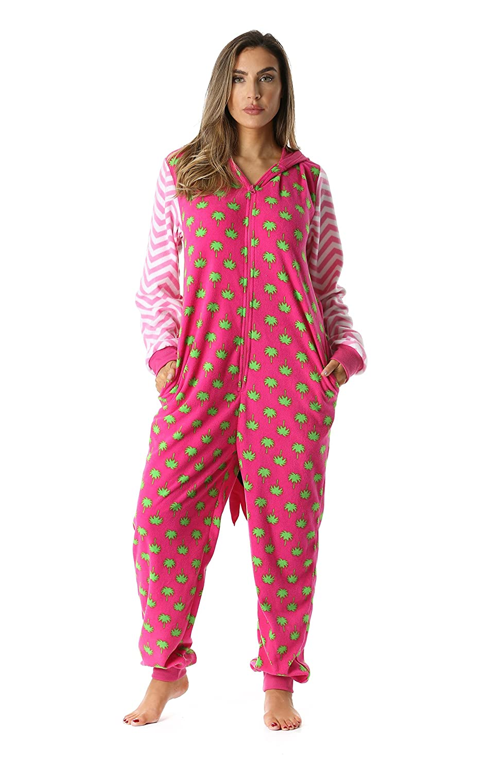 Just Love Parrot and Flamingo Adult Onesie Pajamas