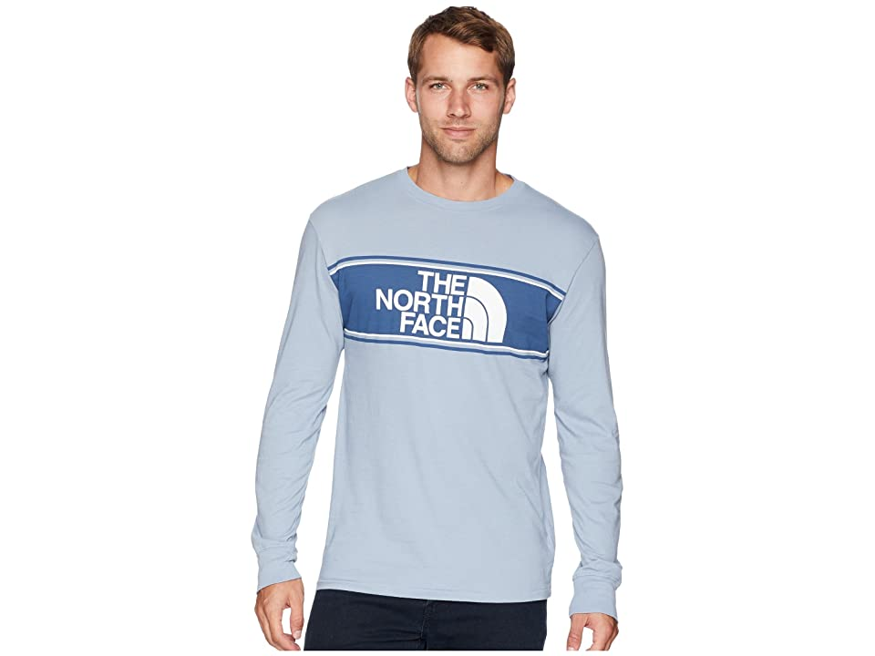 The North Face Long Sleeve Well-Loved Scripter Tee (Gull Blue) Men