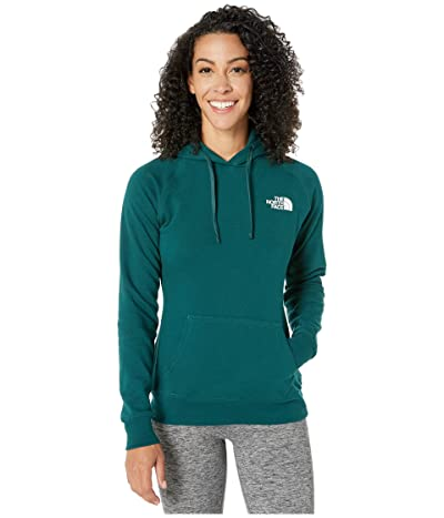 The North Face Red Box Pullover Hoodie (Ponderosa Green/TNF White) Women