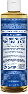 Dr. Bronner's Magic Soaps 18-in-1 Hemp Pure Castile Soaps Peppermint 16 fl. oz.