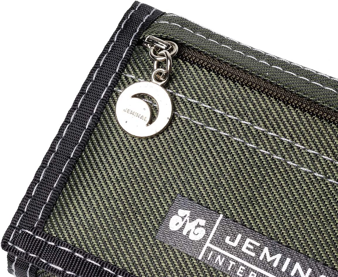 Canvas Wallet,OURBAG Vintage Mens Tri-fold Wallet Casual Vertical Male Purse Business Money Pocket Apricot