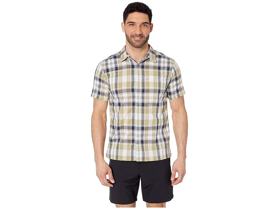 Royal Robbins Monument Plaid Short Sleeve Shirt (Deep Blue) Men