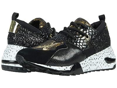Steve Madden Cliff Sneaker (Black/Gold) Women