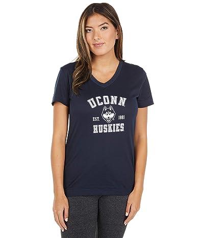 Champion College UConn Huskies University 2.0 V-Neck T-Shirt (Marine Midnight Navy) Women