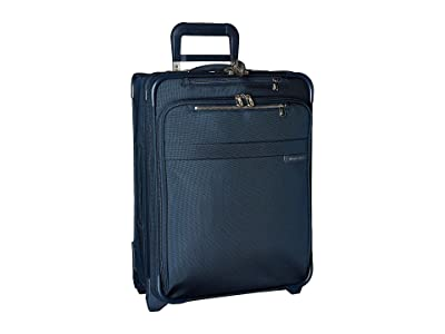 Briggs & Riley Baseline International Carry-On Expandable Wide-Body Spinner (Navy) Carry on Luggage