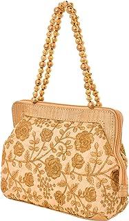 Craft Trade Women's Cotton Handmade Designer Multipurpose Handbag With Top Zip Floral Print Embroidered Patch Work Rajasth...