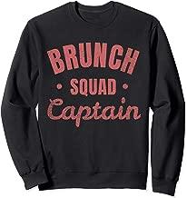 Vintage Brunch Gift Brunch Squad Captain Foodie  Sweatshirt