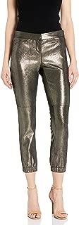 HALSTON Women's Metallic Suede Legging